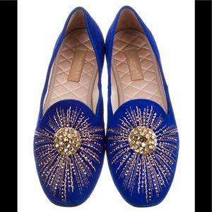 BNIB Aquazzura Cobalt Suede SunlightSlipper Loafer